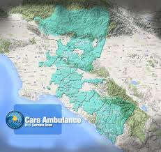 Santa Clarita Zip Code Map by Care Ambulance Service Home