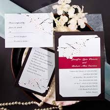 cherry blossom wedding invitations inexpensive classic cherry blossom light blue wedding invitation