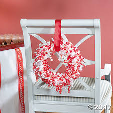 ribbon wreath decoration idea