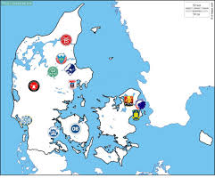 map of the top division clubs in denmark troll football