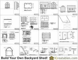 Hip Roof Barn Plans 10x16 Gambrel Barn Shed Plans 10x16 Barn Shed Plans