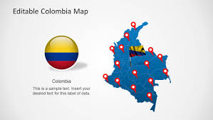 Columbia South America Map South America Map Templates For Powerpoint