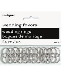 Plastic Wedding Rings by Savings On Plastic Silver Wedding Rings Favor Charms 24ct