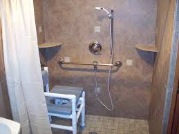 splendid vintage roll in shower with custom seater as well as