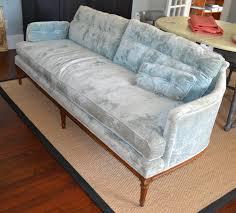 decor grey velvet henredon sofa with wood legs for home furniture