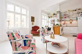 bright colour interior design scandinavian design cozy bright apartment in stockholm