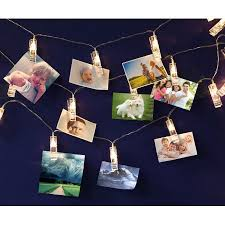 usb led photo clip string lights 10 leds warm white as decorative