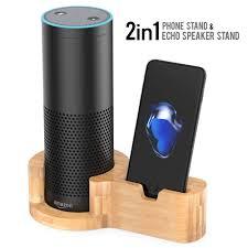 peteast echo speaker stand bamboo wood amazon alexa echo speaker