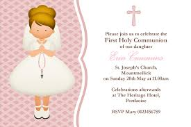 Invitation Card For 1st Birthday Extraordinary Communion Invitation Cards 43 In 1st Birthday