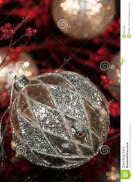 Red Mercury Glass Christmas Ornaments Vintage Mercury Silver Christmas Ornament 2 Stock Image Image Of