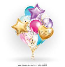heart balloon bouquet heart gold balloon bouquet stock vector 581160409