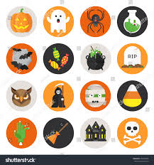halloween vector flat icon set pumpkin stock vector 332270846