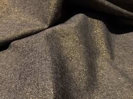 robert kaufman essex yarn dyed metallic linen blend fabric black
