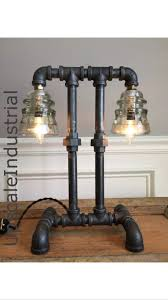 steampunk lamp industrial lamp iron pipe light industrial lighting