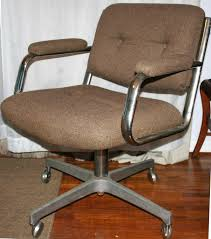 Midcentury Desk Chair Mid Century Modern Office Swivel Chair In Brown And Metal Frame
