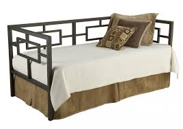 bedroom geometric metal daybed with pop up trundle and bed