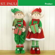 Buy Christmas Outdoor Decorations by Best Seller 24 Inch Standing Elf Plush Toy For Christmas Outdoor