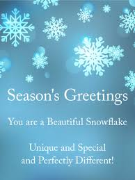 you are a beautiful snowflake season s greetings card birthday