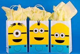 minion gift bags minions decorations minions birthday minion party bags