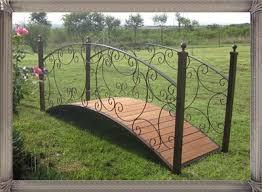 Wrought Iron Garden Decor Br3 Bridge