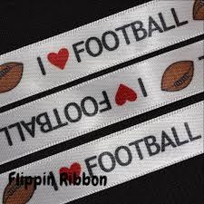 football ribbon i football ribbon 5 8 inch printed satin ribbon