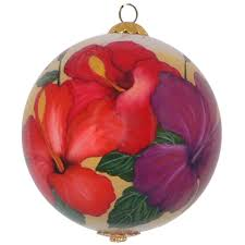 radiant hibiscus hawaiian ornament by design