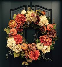 Decorative Wreaths For Home by Fall Wreath Thanksgiving Wreath Front Door Wreath Holiday