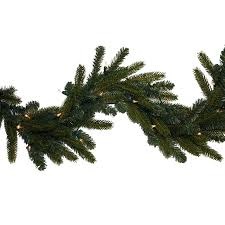 shop ge indoor outdoor pre lit 9 ft l spruce garland with white