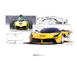 ferrari laferrari sketch new design museum exhibition showcases 70 years of ferrari cnn style