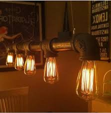 Vintage Island Lighting Vintage Loft Industrial Water Pipe L Retro Classic Edison