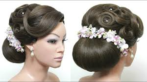 bridal hairstyle for long tutorial elegant low bun prom updo