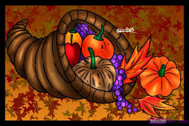 how to draw a cornucopia step by step thanksgiving seasonal