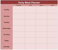 menu calendar template menu planner template free best 25 meal