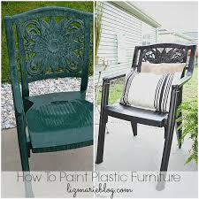How To Spray Paint Patio Furniture How To Paint Plastic Furniture U0026 A Makeover Liz Marie Blog