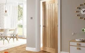 Interior Doors Uk Oak Doors Genuine Solid Oak Veneer Glazed Panel