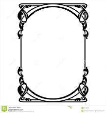 rectangular decorative frame with nouveau ornament stock
