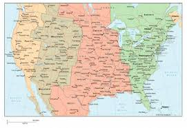zone map for usa map of us zones with cities topographic map