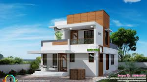 small double floor modern house plan kerala home design lovin
