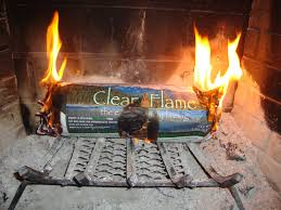 living the thrifty life product review clean flame fire logs