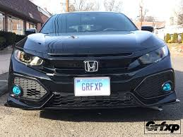 honda civic headlight headlight overlays for 10thgen honda civic hatchback 2017