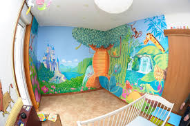 fresque murale chambre bébé deco peinture chambre enfant 1 fresque murale dans une chambre
