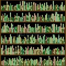 Bookcase With Books Big Bookcase With Books Computer Generated Picture Stock Photo