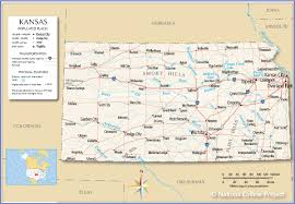 Time Zone Map Usa With Cities by Reference Map Of Kansas Usa Nations Online Project