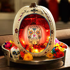 Use A Craft Pumpkin To Create This Fabulous Day Of The Dead