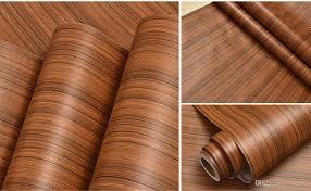 diy back glue pvc wood grain wall sticker waterproof wallpaper