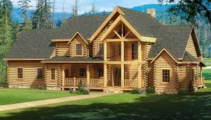 charming log cabin plans free 9 highland front elevation 0 jpg