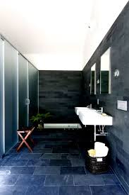 Black Slate Bathrooms Slate Bathroom Tile Bathroom Eclectic With Bathroom Mirror Black