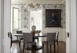 Wallpaper Designs For Dining Room How 21 Famous Interior Designers Decorate A Dining Room