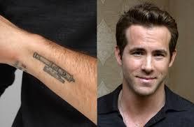 celebrity tattoos ryan reynolds goodtoknow