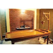 ayurvedic massage table for sale ayurveda massage table and shirodhara standwith pot at rs 57500